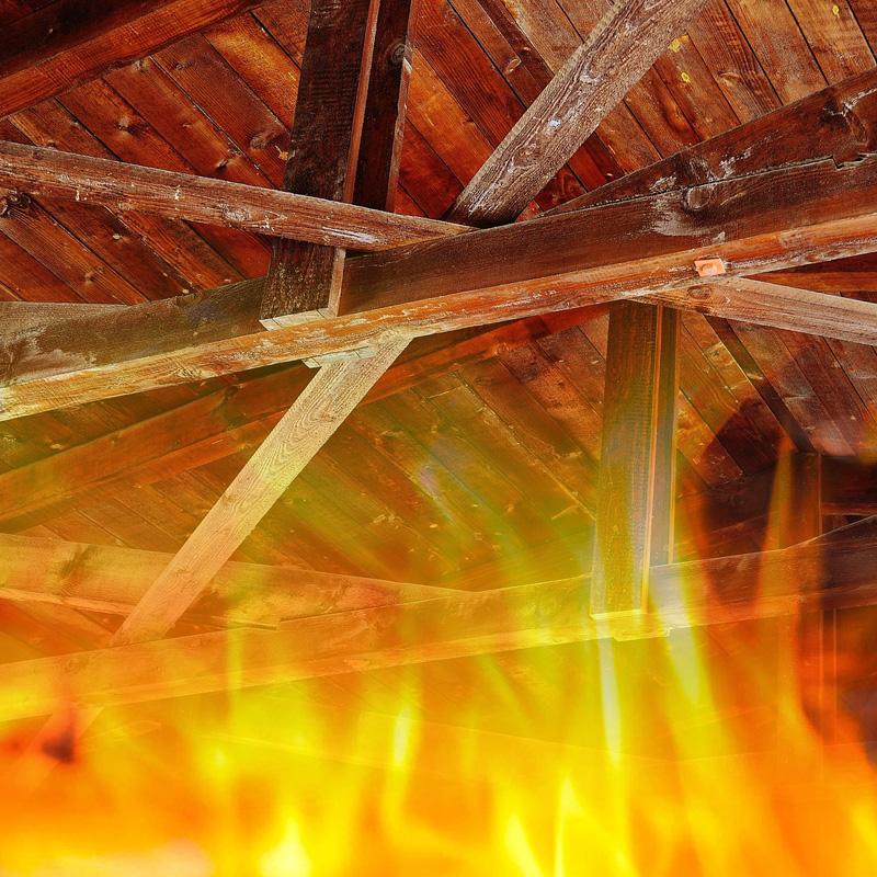 Protipožární ochrana dřevených konstrukcí